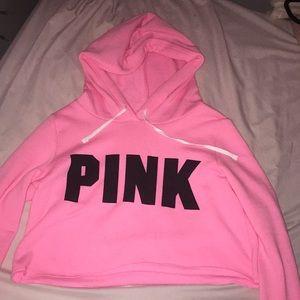 Cropped Victoria Secret Pink Sweatshirt